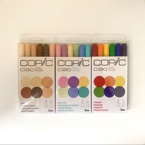 Copic Ciao Markers 6 pack / set of 3